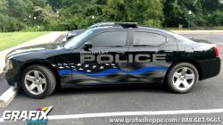 Brantley PD AL Blue Line Flag Charger Graphics