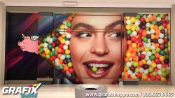 Candytopia Wall Graphics at MOA
