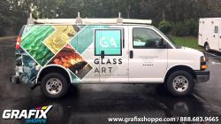 Glass Art Chevy Van