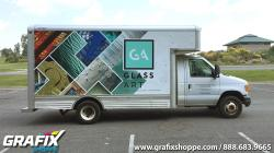 Glass Art Cube Van