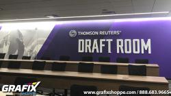 Minnesota Vikings Draft Room with a textured wall graphics and dimensional lettering