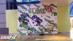 Nickelodeon Universe SLIME photo wall at Mall of America