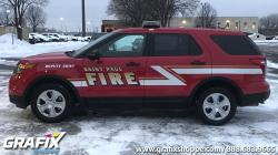 St. Paul Fire Explorer wrap