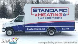 Standard Heating Cube Truck Graphic Wrap