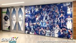 Timberwolves Store Wall Graphic