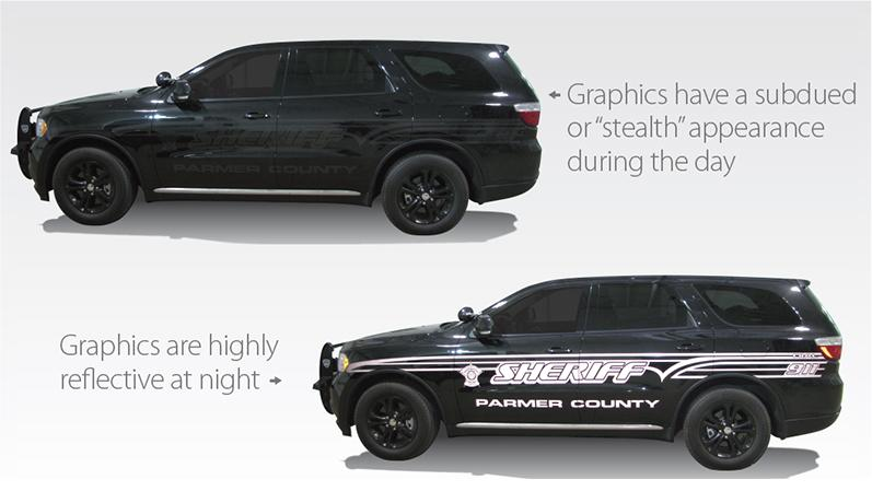 Stealth Police Car Graphics Stealth Vehicle Wraps